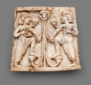 San Francisco, De Young Museum. Accession Number, <a href=&quot;https://art.famsf.org/nimrud-ivory-plaque-youths-flanking-papyrus-column-1980545&quot; target=&quot;_bank&quot;>1980.54.5</a>