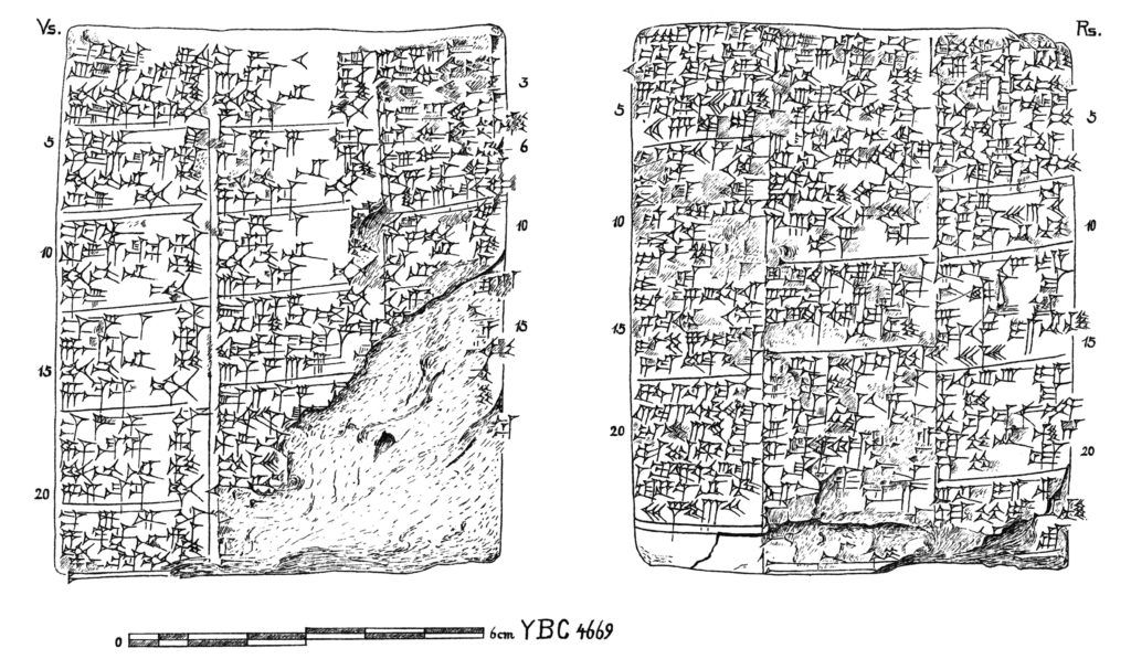 Pl. 3 – Yale Babylonian = <a href=&quot;http://collections.peabody.yale.edu/search/Record/YPM-BC-018734?fbclid=IwAR0NeZuV_i_2ZFOypZHH8OWj6K7qhby98uNRxwxLIIANR3eN7oK3YpBRNCk&quot; target=&quot;_blank&quot;>YBC 04669</a>